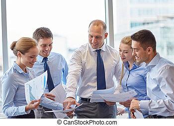 mluvící, doklady, business úřadovna, národ