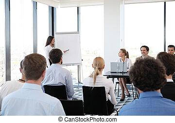 mluvčí, setkání, povolání