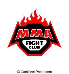 MMA fight club, logo.