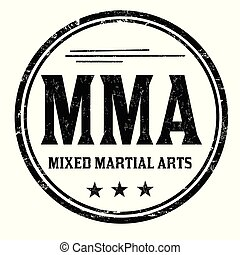 MMA ( Mixed Martial Arts) grunge rubber stamp