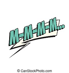 mmm comic word