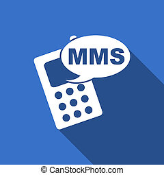 mms flat icon phone sign