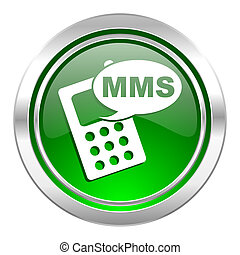 mms icon, green button, phone sign