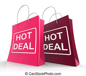 mnóstwo, zakupy, targi, transakcja, pokaz, dyskon, gorący