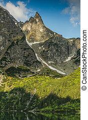 Mnich high peak in Tatra Mountains, Poland