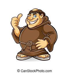 mnich, tlustý