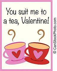 mnie, herbata, ty, garnitur, valentine