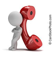 mnie, ludzie, -, rozmowa telefoniczna, mały, 3d