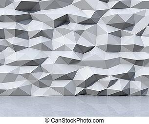 mnohoúhelník, model, abstraktní, triangulate, grafické...