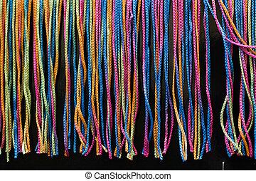 mnoho, pletený, vystavit, barvitý, podmínky
