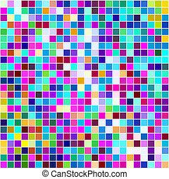 mnohobarevný, malý, čtverhran, grafické pozadí.