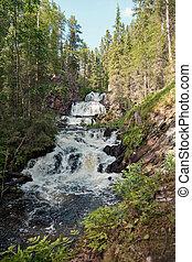 M?ntykoski waterfall. Republic of Karelia. Russia