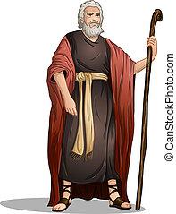 moïse, depuis, bible, pour, pâque