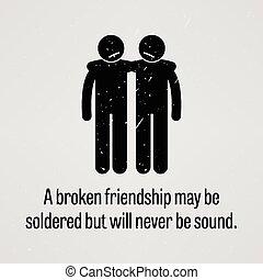 może, czuć się, przyjaźń, spawany, złamany