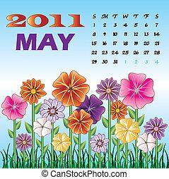 może, skoczcie kwiat, 2011, ogród