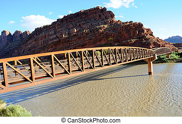 Moab Mountain Bike Bridge across Colorado River