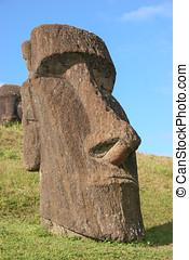 moai, à, rano raraku, île pâques