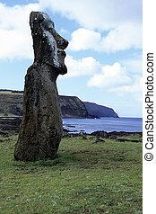 moai-, ø påske, chile
