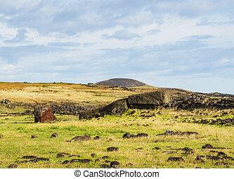 moai, イースター島, チリ