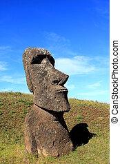 moai, 採石場, イースター島