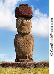 Moai at easter island