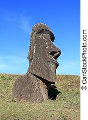 Moai at Quarry, Easter Island