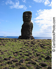 moai, de, isla de pascua