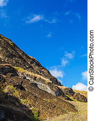 moai, en, isla de pascua, chile