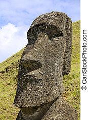 Rapa Nui National Park - Moai in Rapa Nui National Park on...