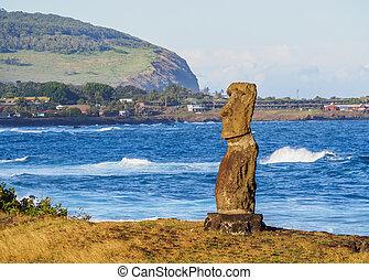 moai, isla de pascua, chile