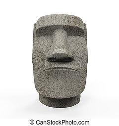 Moai Statue Isolated - Moai Statue isolated on white ...