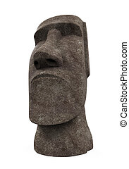 Moai Statue Isolated - Moai Statue isolated on white...