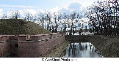 Moat. Castle In Niasvizh. Belarus