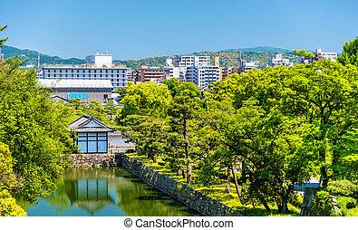 Moat of Nijo Castle in Kyoto