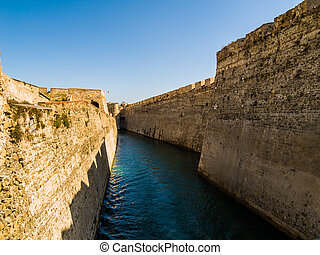 Moat - Castle Moat in Ceuta, the hispanic enclave in Africa
