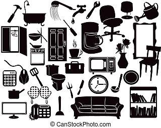 mobília, ícones