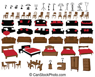 mobília, e, mais claro