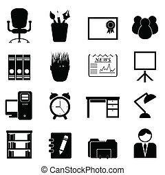 mobília escritório, e, ferramentas
