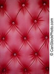 mobília, upholstery couro, vermelho, vertical, fundo