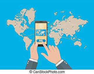 mobiele telefoon, credit., betalingen, smart