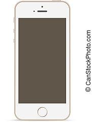 mobiele telefoon, mockup, ontwerp, template., touchscreen, technology.