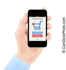 mobiele telefoon, online winkelend