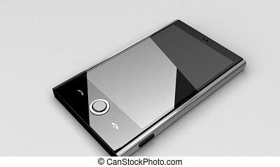 mobiele telefoon, op, tafel, in, lus