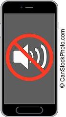 mobiele telefoon, van, volume