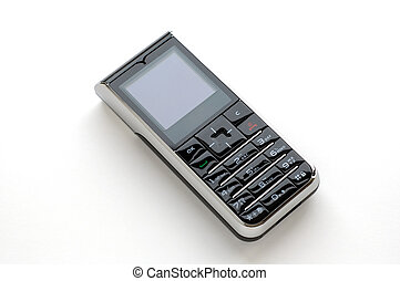 mobiele telefoon, witte , moderne, achtergrond