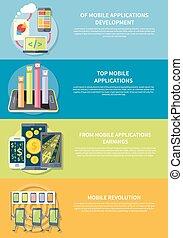 mobil, applikationer