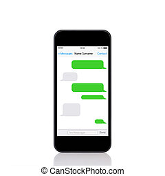 mobil, avskärma, sms, ringa, pratstund, toucha