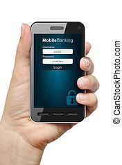 mobil, bankrörelse, begrepp
