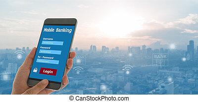 mobil, bankrörelse