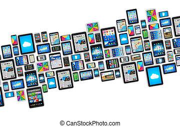 mobil, enheter
